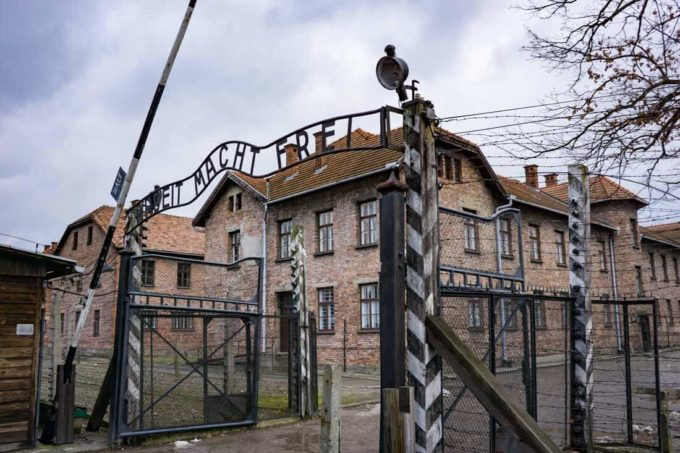Work will set you free, gate at Auschwitz, the biggest lie ever told