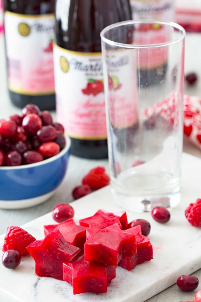 Flavored ice cubes keep drinks cold and serve as a beautiful garnish as well