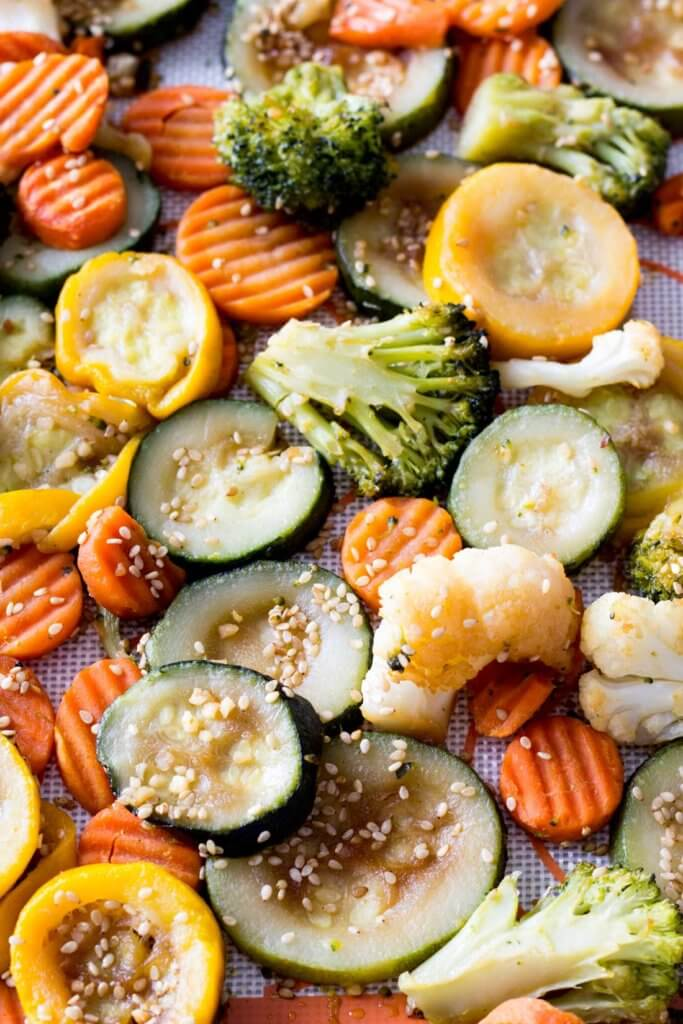 Asian Inspired Roasted Veggies - Eazy Peazy Mealz