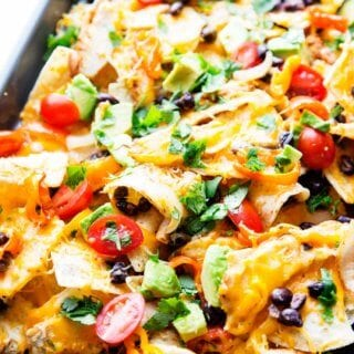 Sheet Pan Chicken Nachos