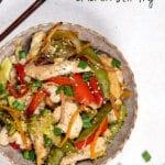 Easy sheet pan chicken stir fry is the quickest, easiest weeknight meal