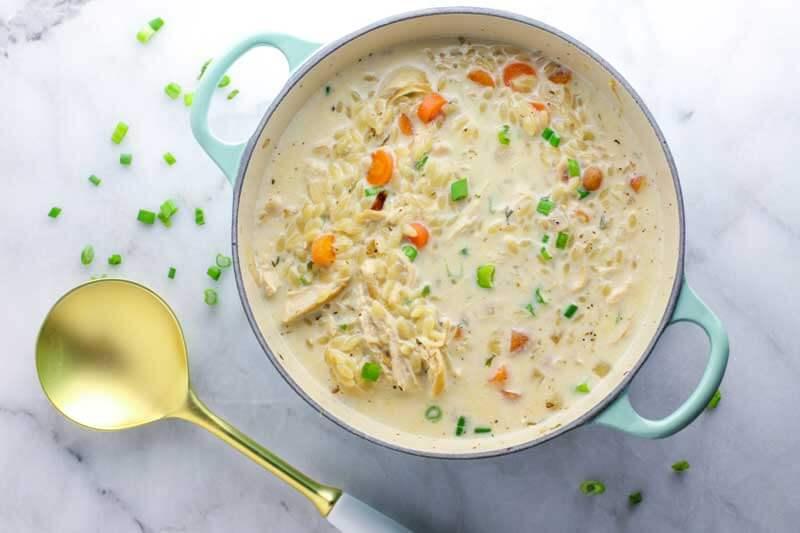Creamy Chicken Orzo Soup