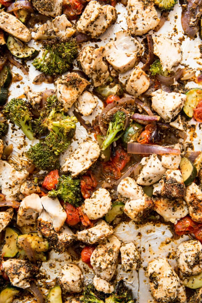 Sheet Pan Italian Chicken Meal Prep Bowls