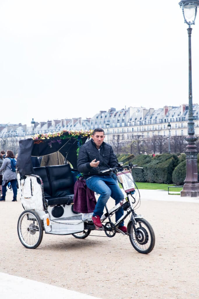 Bike taxis in Paris