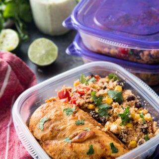 Fiesta Chicken with cauliflower rice