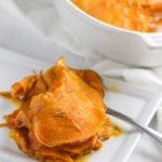 Scalloped Sweet Potatoes with Maple Butter