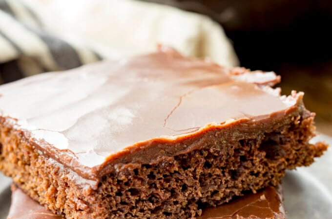 Super moist and flavorful texas sheet cake, chocolate cake at its finest