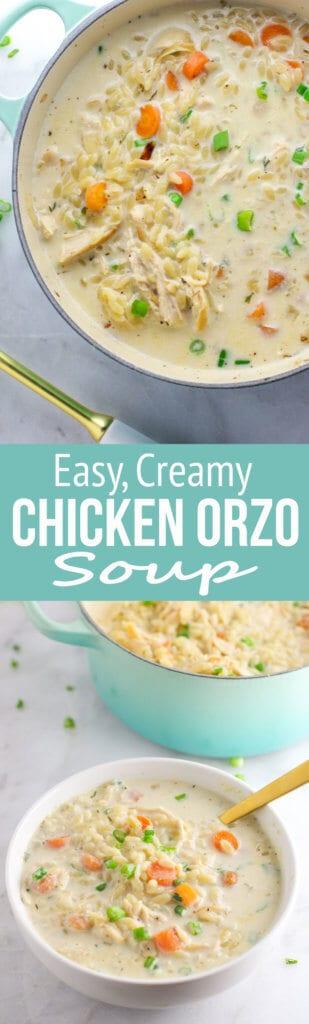 Easy Creamy Chicken Orzo Soup