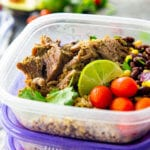 Seasoned pork carnitas meal prep bowls made easy