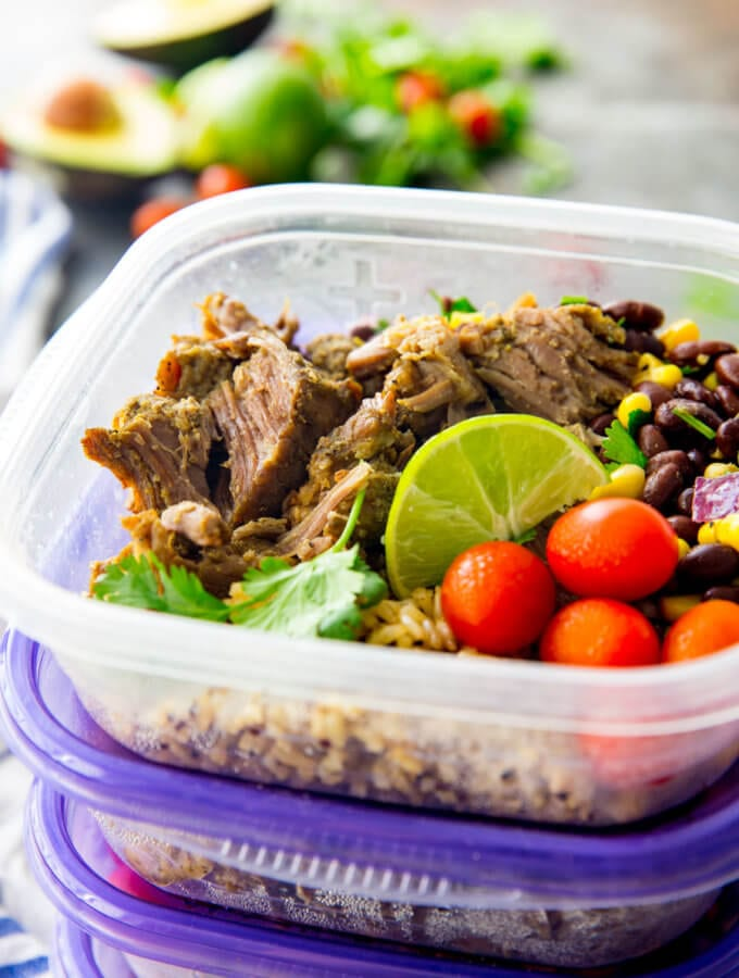 Easy Pork Carnitas Meal Prep Bowls