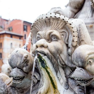 The beautiful fountains and architecture in ROME
