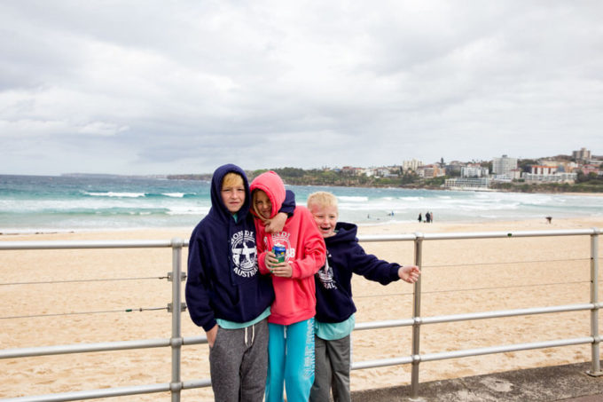 Surfing at Bondi Beach in Sydney Australia