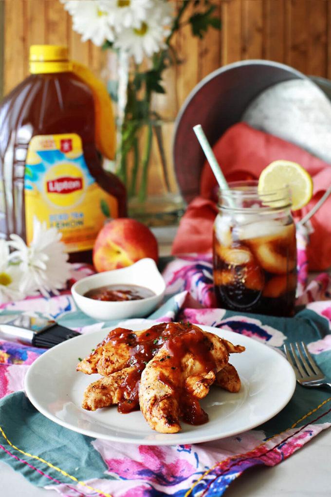 Easy Peach BBQ Sauce - Eazy Peazy Mealz
