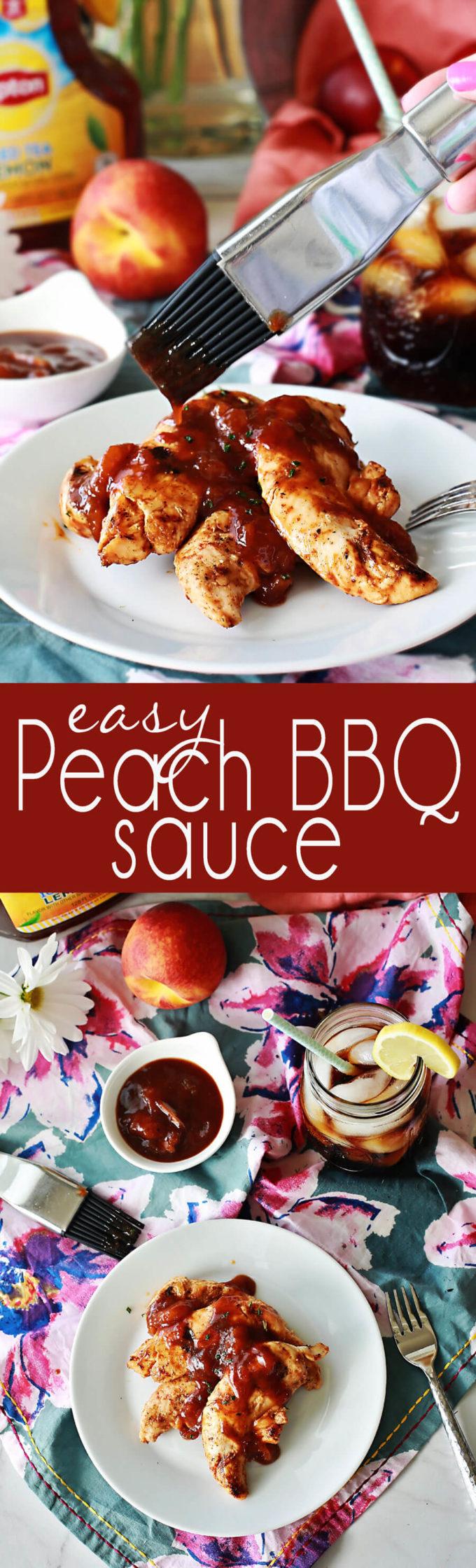 easy peach bbq sauce