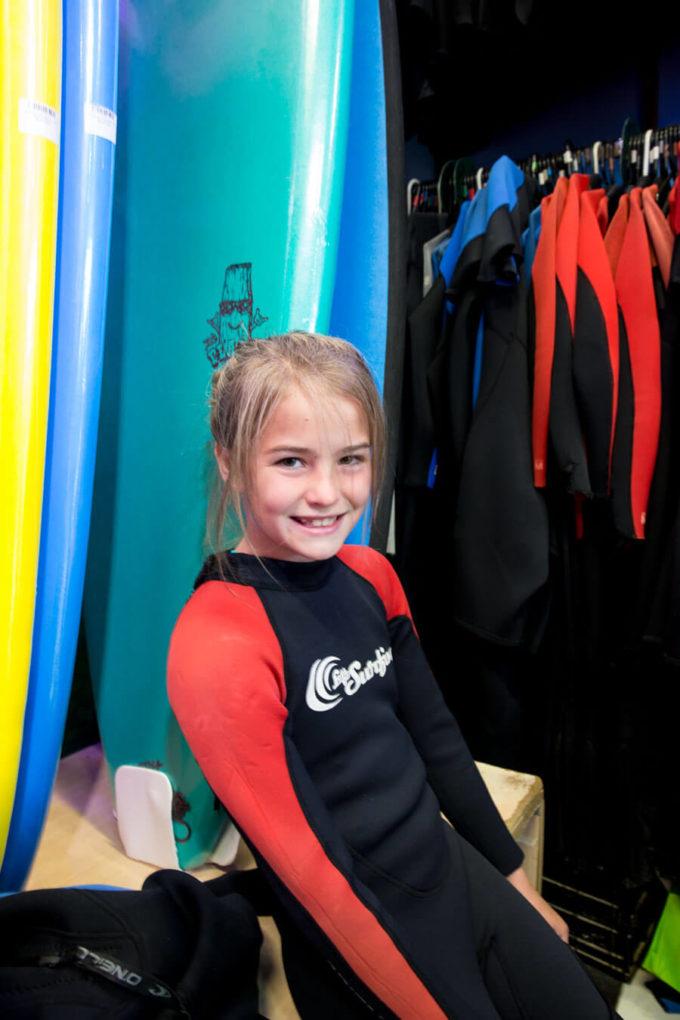 Surfing at Bondi Beach in Sydney Australia