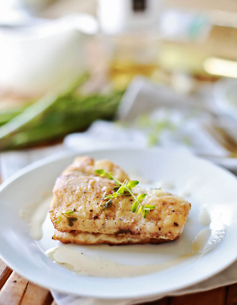 Haddock with browned butter white wine sauce: Flaky haddock pan fried, and served with a browned butter white wine sauce. Amazingly flaky fish, with a gourmet flavor, prepared in 20 minutes or less. This simple but elegant meal is sure to be a hit!