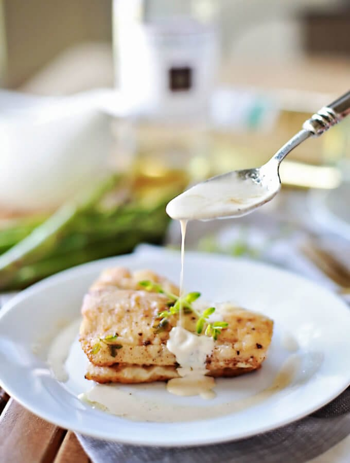 Haddock with Browned Butter White Wine Sauce
