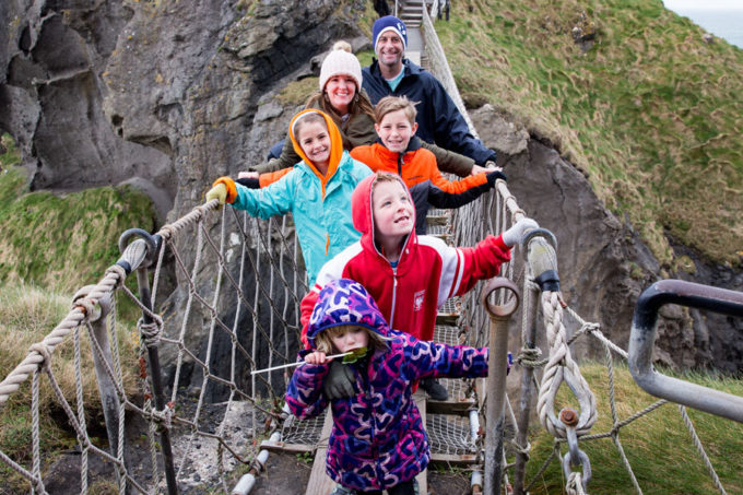Carrick a rede rope bridge irealnd