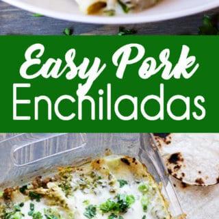 Easy Pork Enchiladas