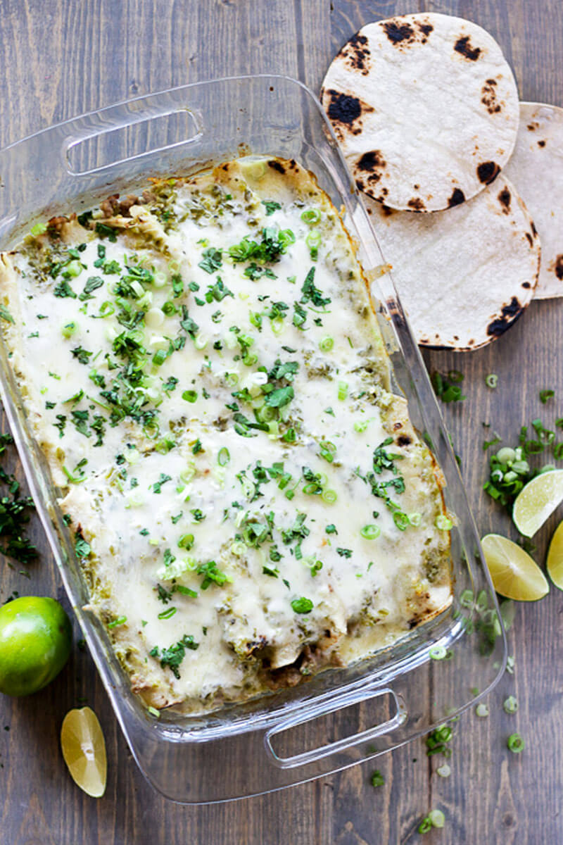 These easy pork enchiladas are quick to put together, packed with flavor