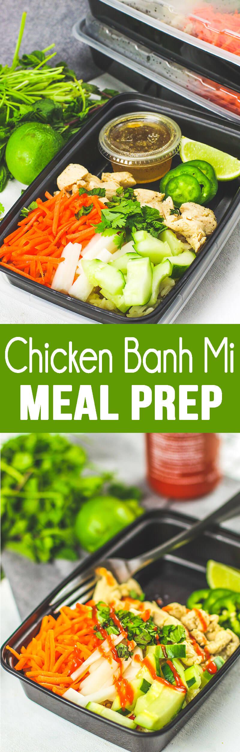 Chicken Banh Mi Meal Prep