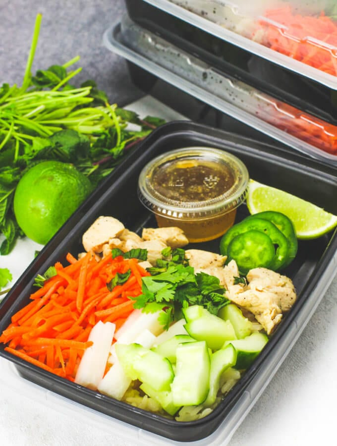 Chicken Banh Mi Meal Prep Bowls