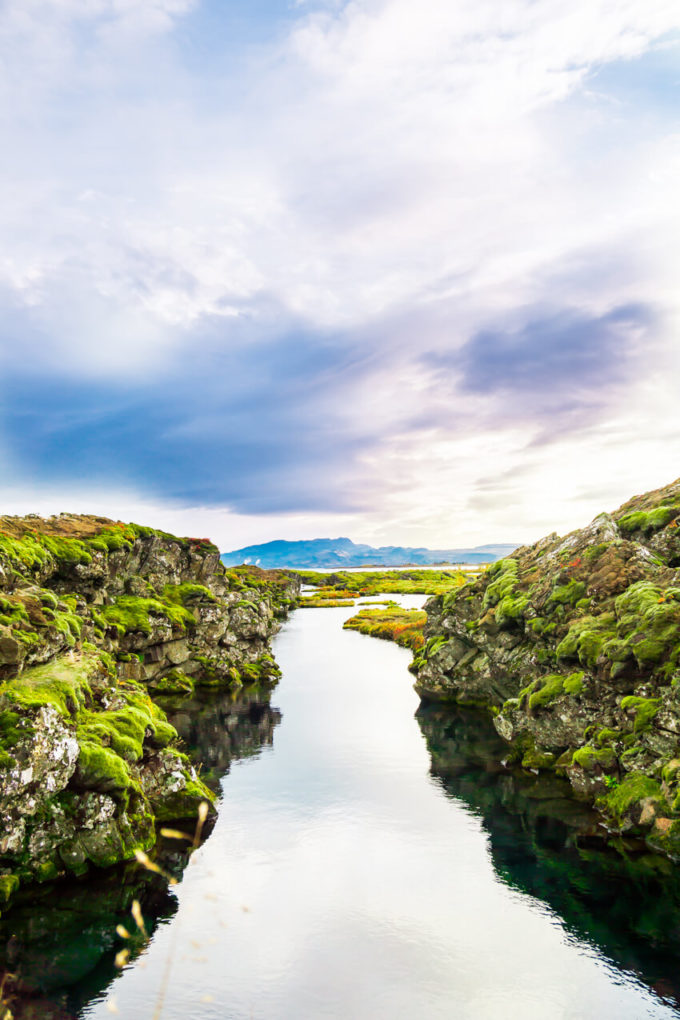 Silfra in Iceland, snorkeling in the continental divide