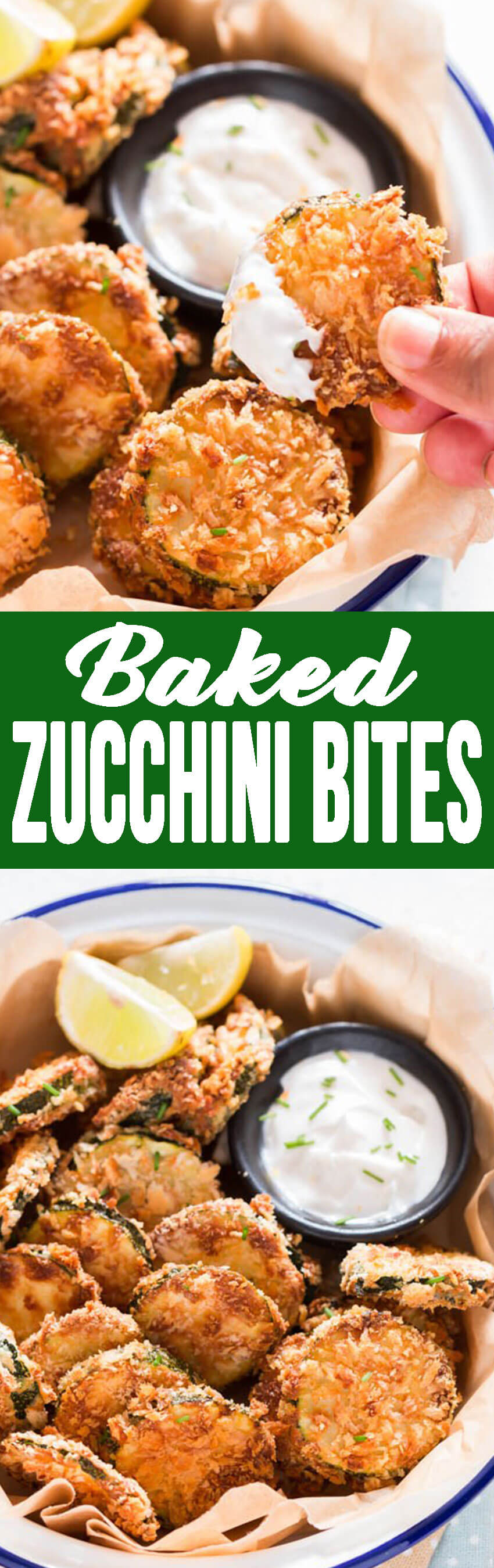 Baked Zucchini bites, are deliciously battered and baked, and absolutely addicting.