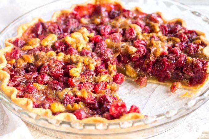 Cranberry Walnut Pie - Eazy Peazy Mealz
