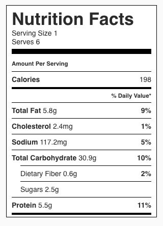 Mushroom Rice Pilaf Nutrition Facts