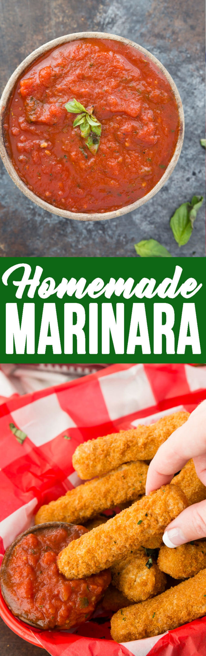 Homemade marinara dipping sauce
