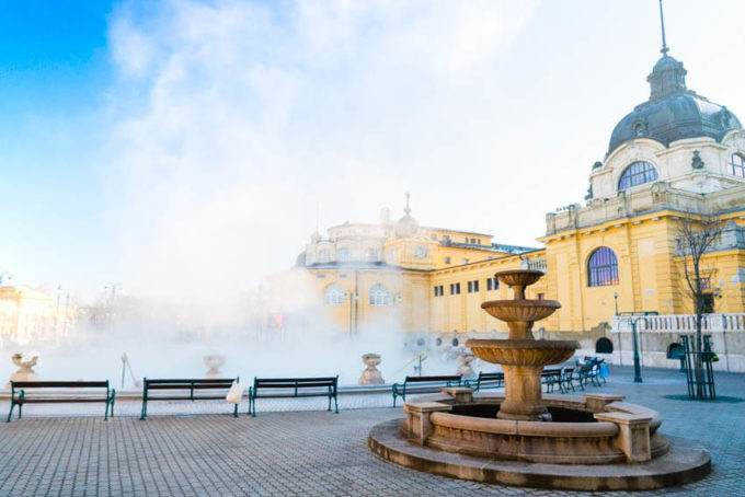 Szechenyi Baths, Budapest Hungary bucket list travel
