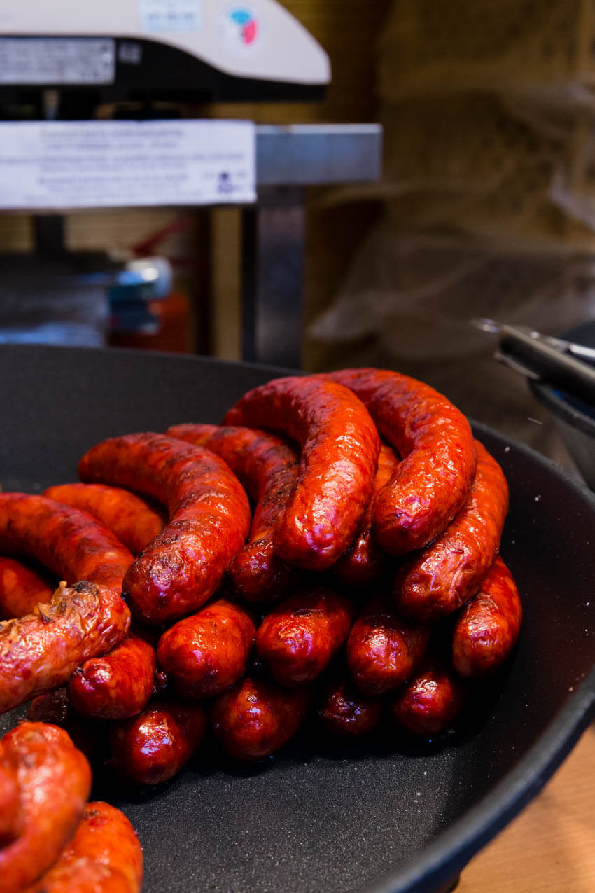 Sausages at the European Christmas markets