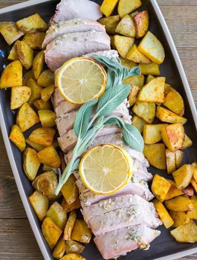 Garlic and Sage Rubbed Pork Tenderloin