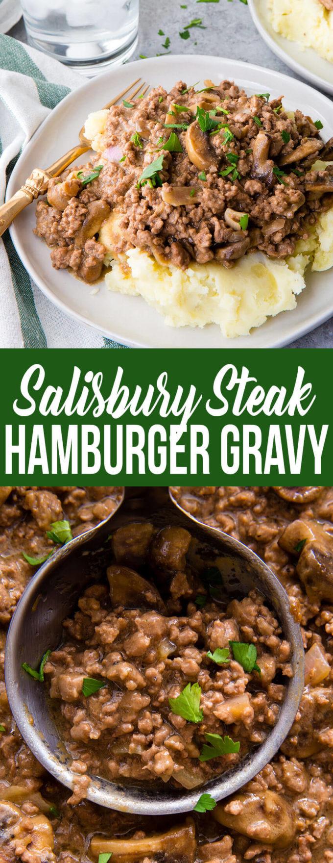 Easy Salisbury steak Hamburger gravy!