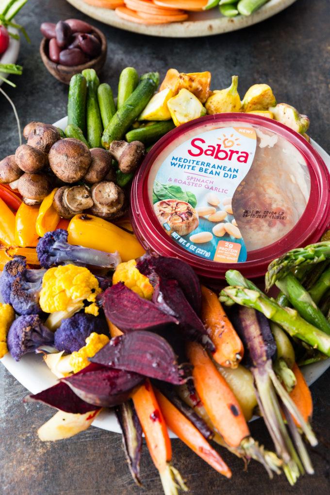 Roasted Vegetable Crudite with Sabra bean dips