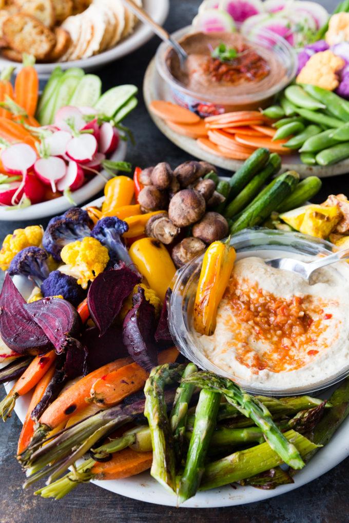 Crudite Platter With Roasted Veggies Easy Peasy Meals