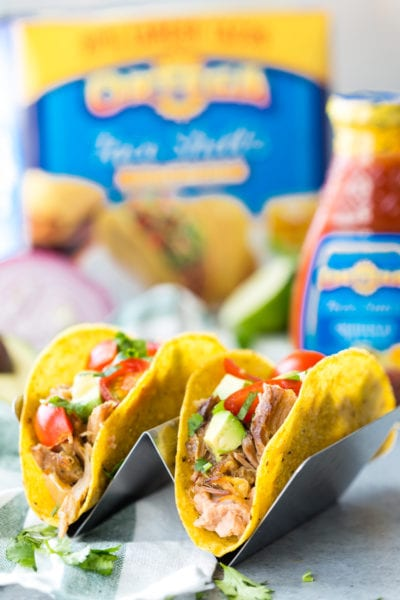 Slow Cooker Pork Carnitas Tacos- delicious pork carnitas cooked in a crock pot