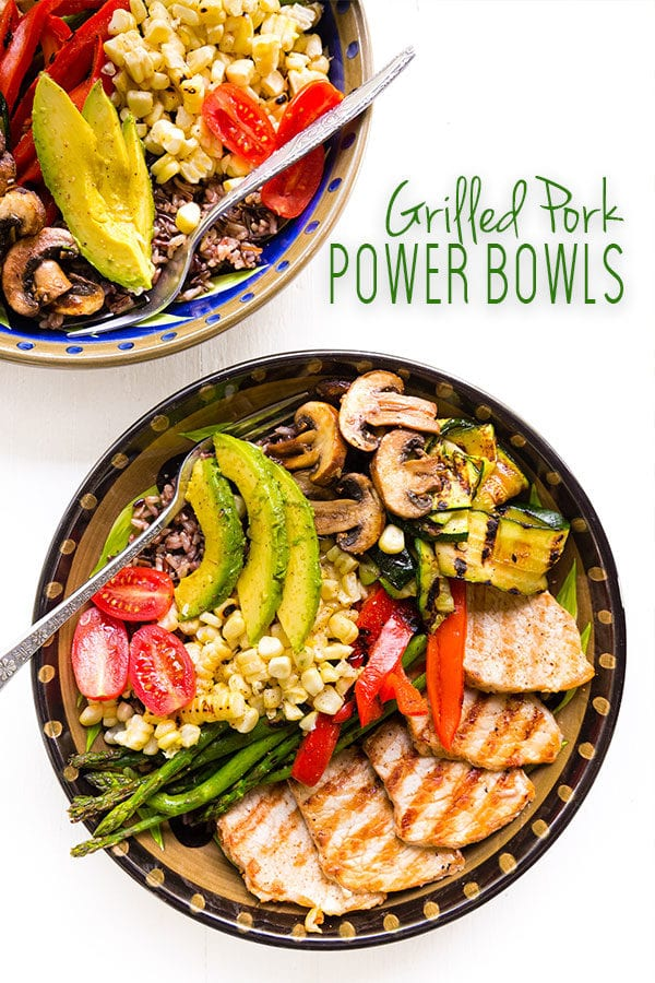 Grilled Pork Power Bowls