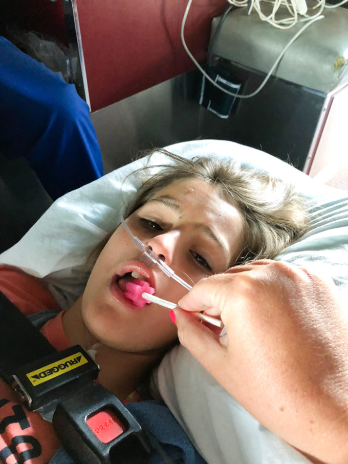 ambulance ride femur break