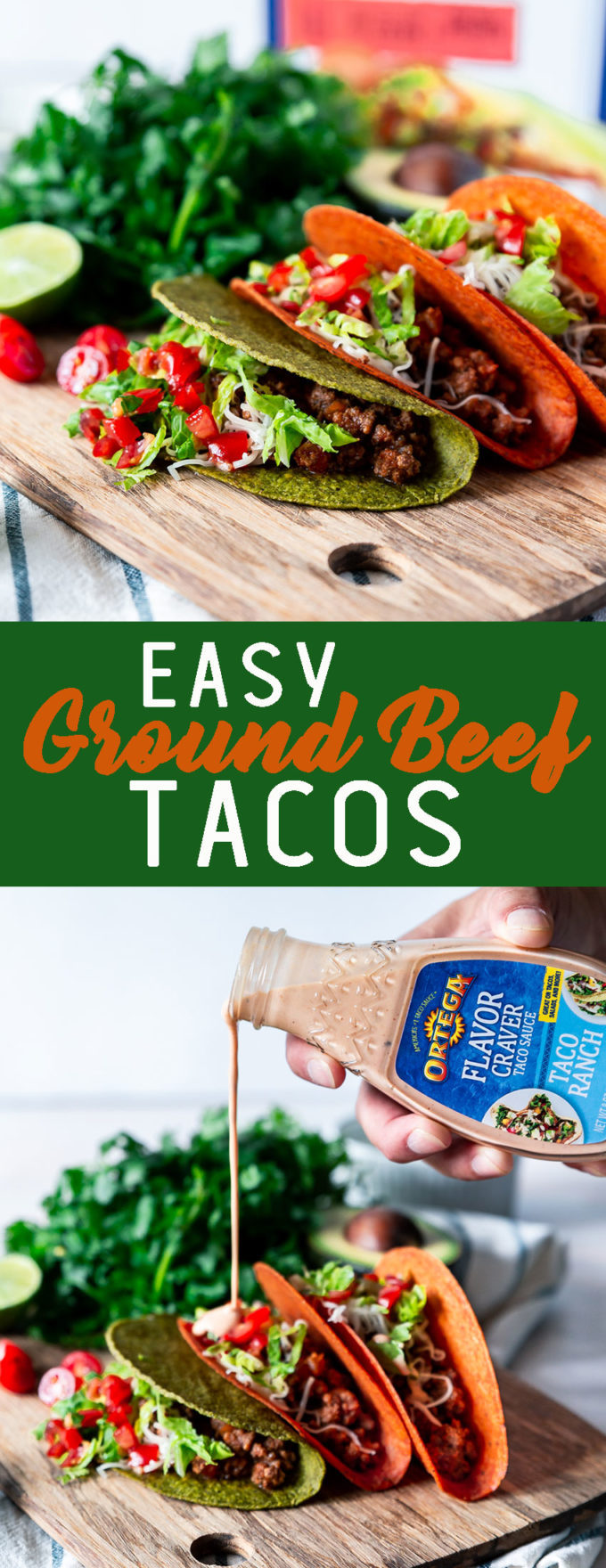Easy ground beef tacos made in under 30 minutes, so much flavor.