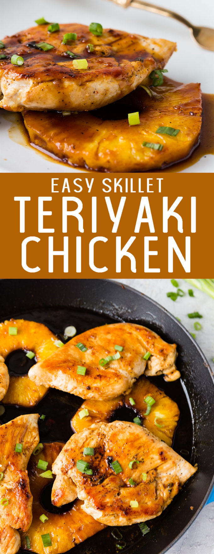 Easy skillet teriyaki chicken, the simplest meal with a homemade teriyaki sauce. So delicious
