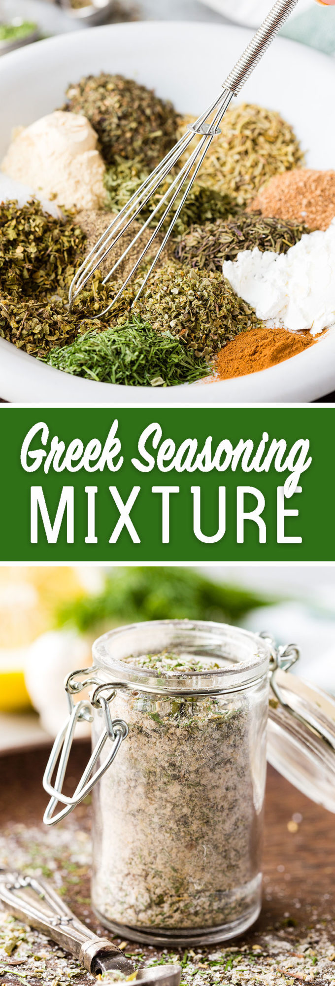 Make your own greek seasoning mixture or greek spice blend and skip all the added junk! Delicious