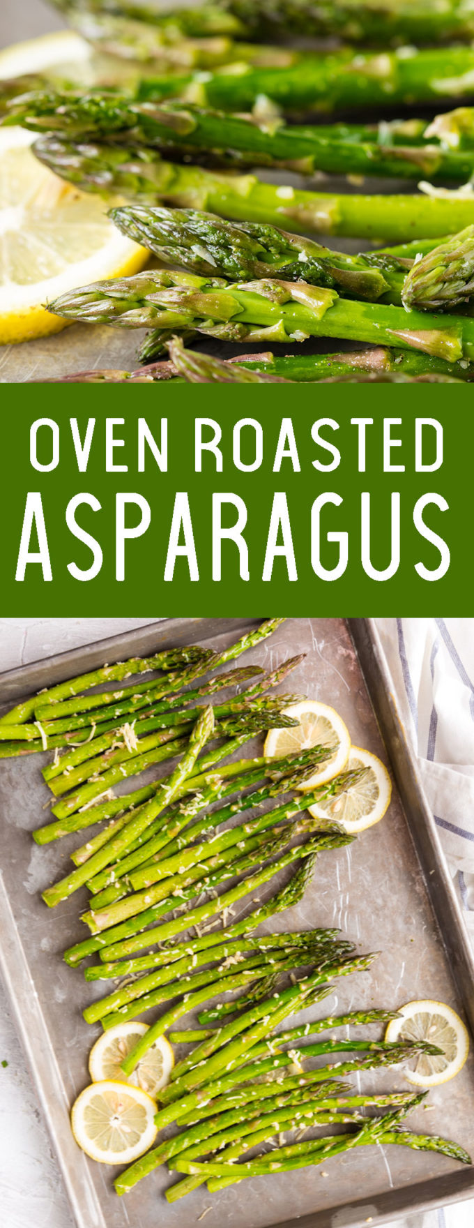 This amazing oven roasted asparagus topped with parmesan cheese! It is amazing and delicious.