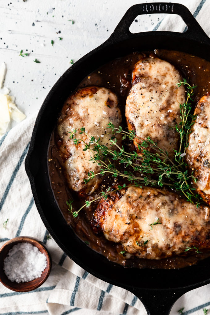 Skillet French Onion Chicken