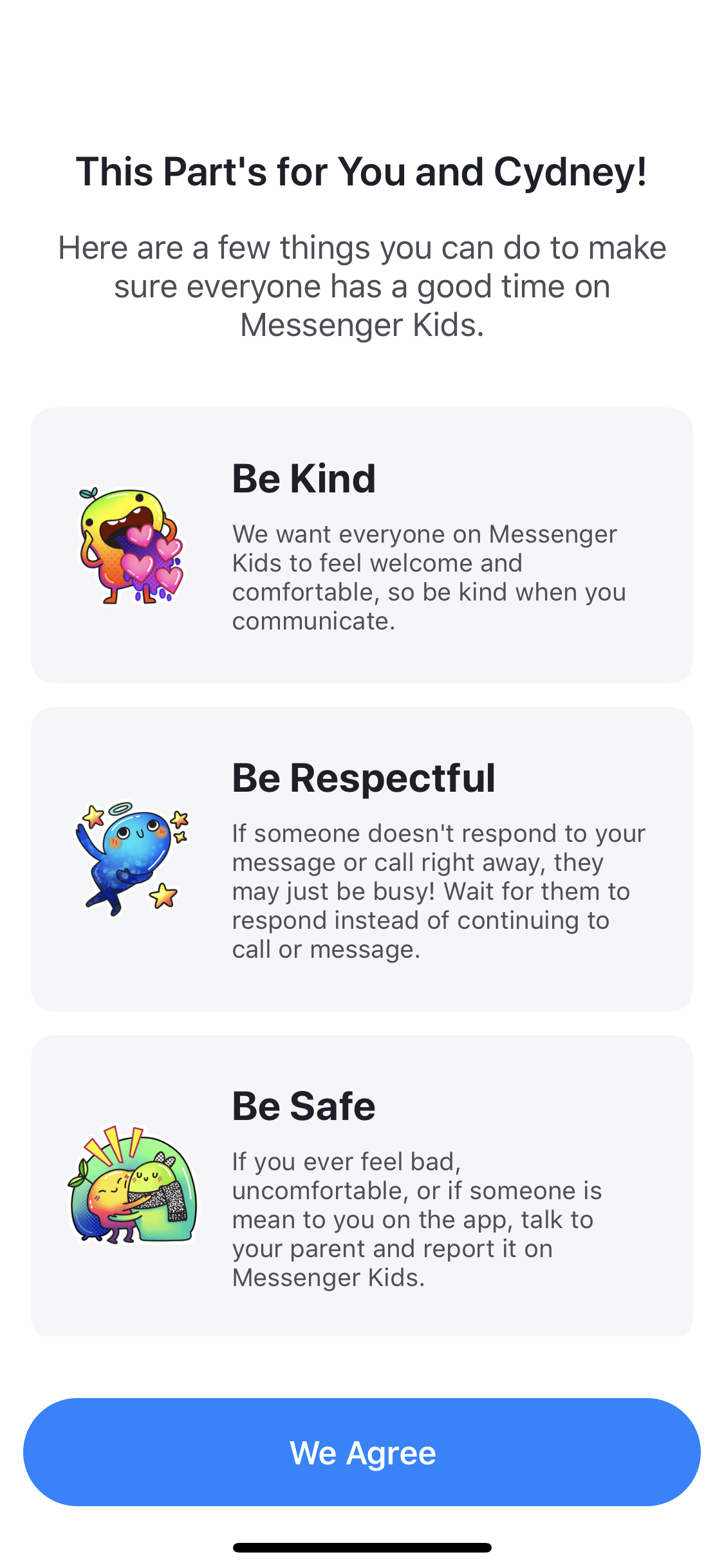 How to use messenger kids