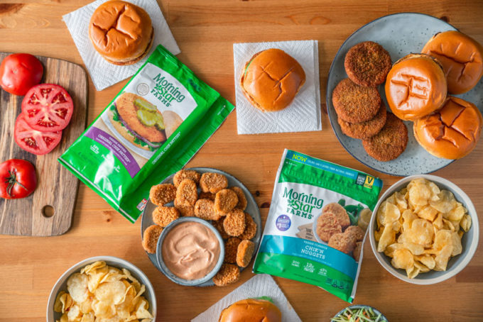 Easy chicken sandwich made from plant based patties
