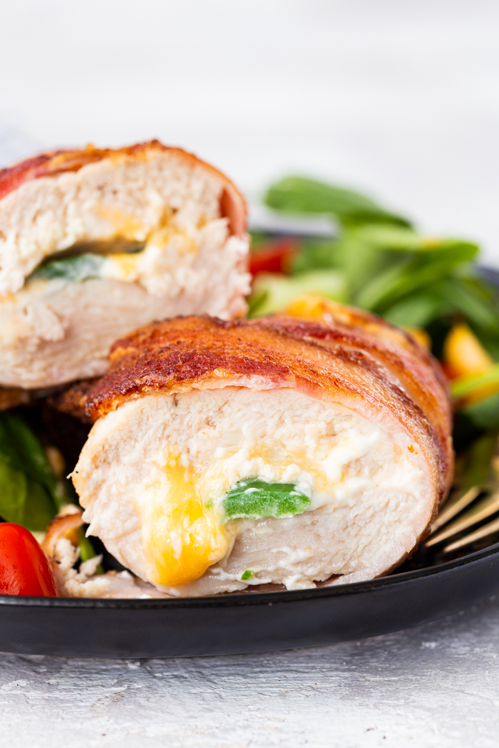 Jalapeno Popper Stuffed Chicken Breast Keto Low Carb Air Fryer Easy Peasy Meals