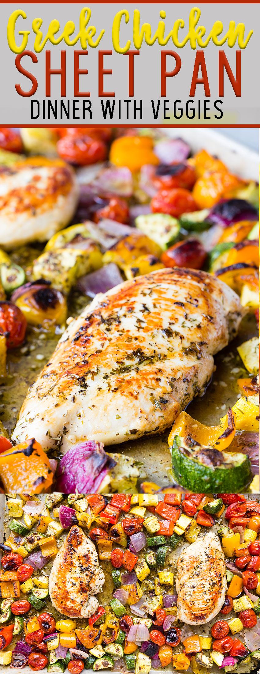 One pan, low mess, absolutely delicious Greek Sheet Pan Chicken