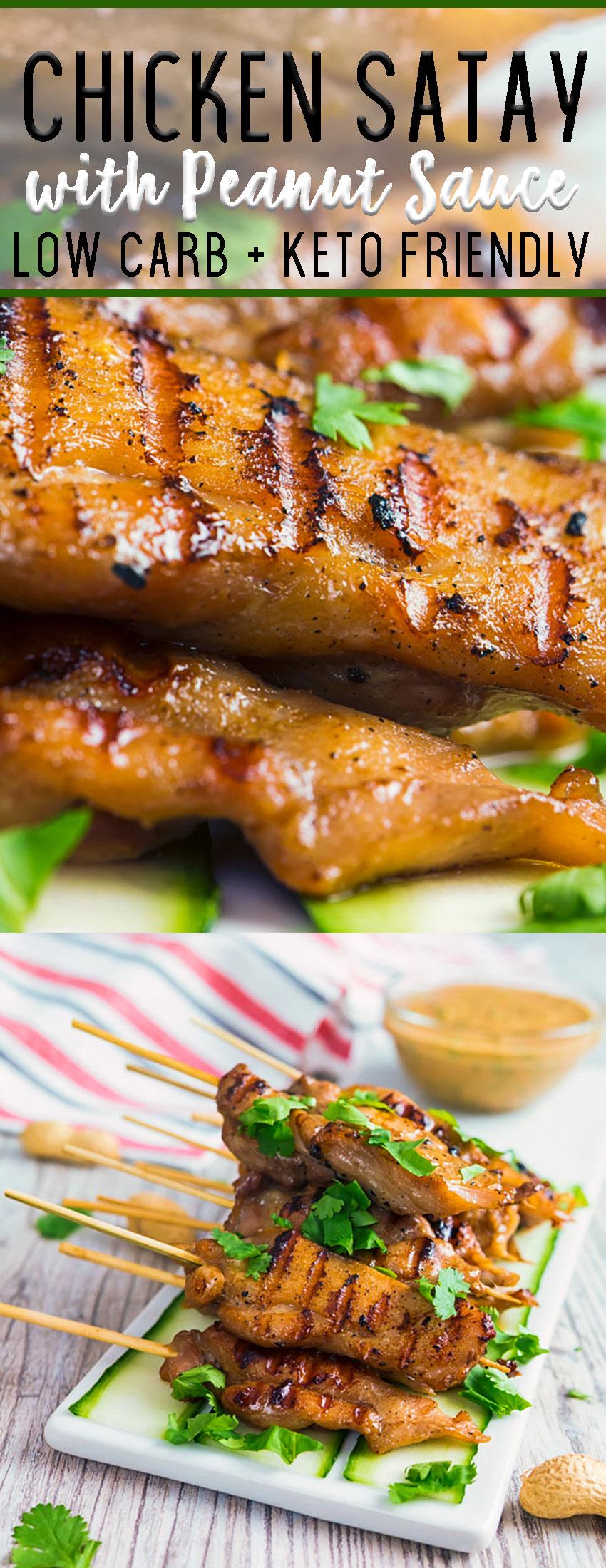 Chicken satay low carb keto friendly
